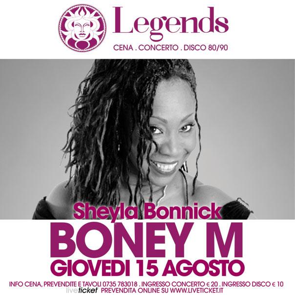 """Il Mercoledì Medusa Legends"" Boney M Show a San Benedetto del Tronto"