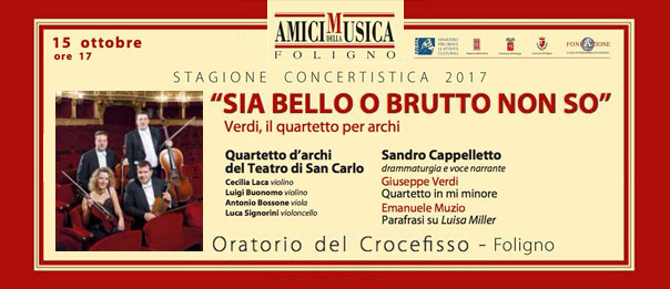 Sia bello o brutto non so all'Oratorio del Crocefisso a Foligno