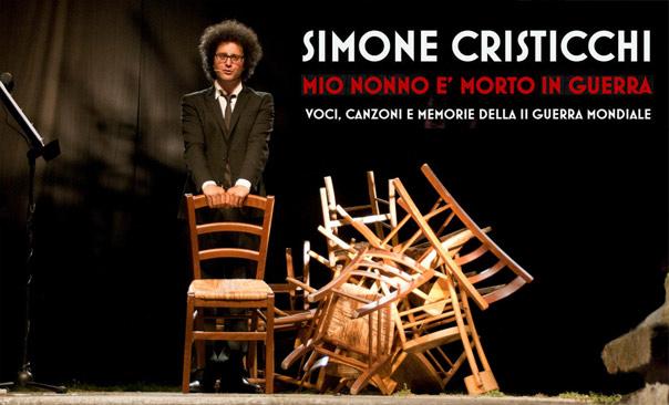 """Simone Cristicchi """"Mio nonno e' morto in guerra"""""""