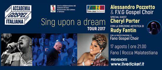 """Sing upon a dream"" Alessandro Pozzetto & FVG Gospel Choir alla Rocca Malatestiana a Fano"