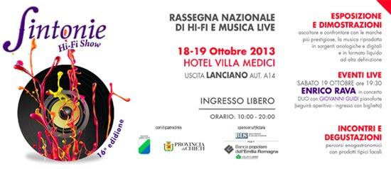 Sintonie: Rassegna Nazionale di Hi Fi e Musica Live a Rocca San Giovanni