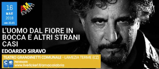 L'uomo dal fiore in bocca e altri strani casi al Teatro Grandinetti di Lamezia Terme