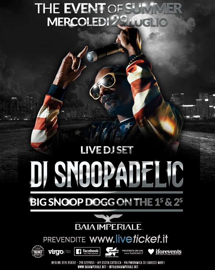 Snoop Dogg Live aka DJ Snoopadelic @ Baia Imperiale Gabicce