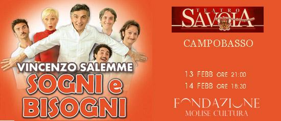 """Vincenzo Salemme """"Sogni e bisogni, incubi e risvegli"""" al Teatro Savoia di Campobasso"""