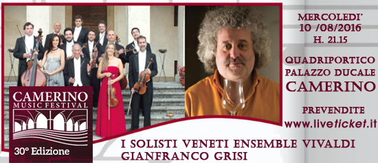 I Solisti Veneti Ensemble Vivaldi e Gianfranco Grisi al Camerino Music Festival