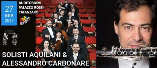 Solisti Aquilani & Alessandro Carbonare all'Auditorium - Palazzo Rossi a Catanzaro