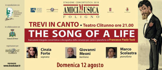 The song of a life - XVI concerto al Teatro Clitunno di Trevi