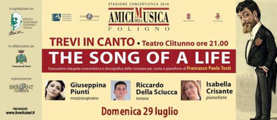 The song of a life - XV concerto al Teatro Clitunno di Trevi