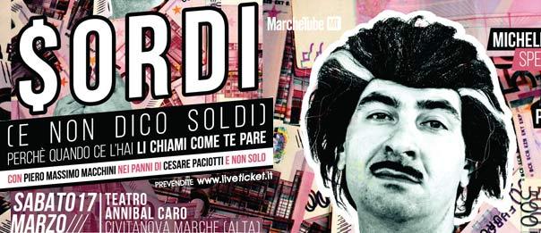 """Piero Massimo Macchini """"Sordi"""" al Teatro Annibal Caro di Civitanova Marche Alta"""