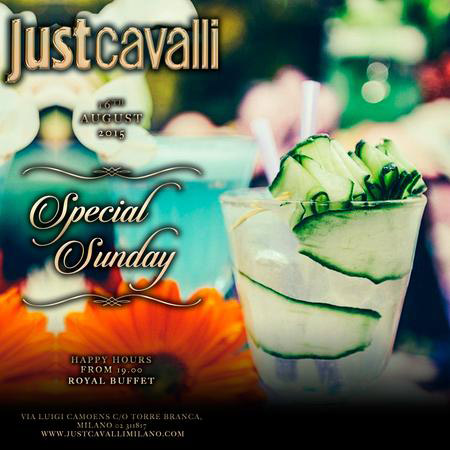 Special Sunday al Just Cavalli Club di Milano
