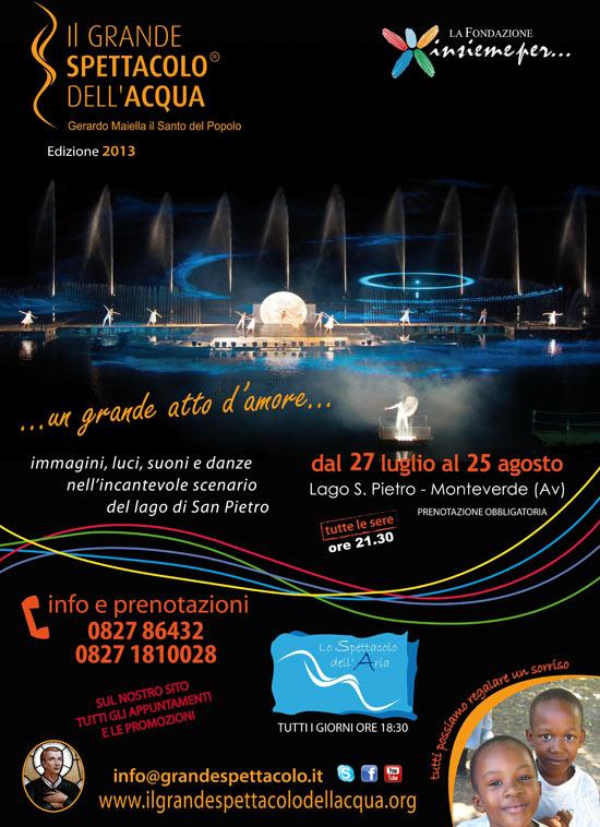 Il Grande Spettacolo dell'Acqua, Lago di San Pietro a Monteverde