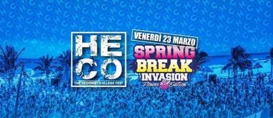 Spring Break Invasion - Flower Edition all'Heco - The Hedonist College di Forlì