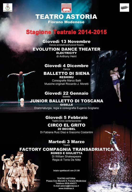 Stagione Teatrale 2014/15 al Teatro Astoria di Fiorano Modenese