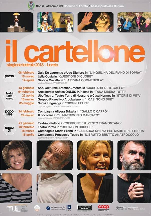 Stagione teatrale Loreto 2018