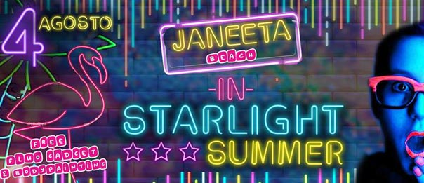 Starlight party al Jaaneta Beach a Giardini Naxos