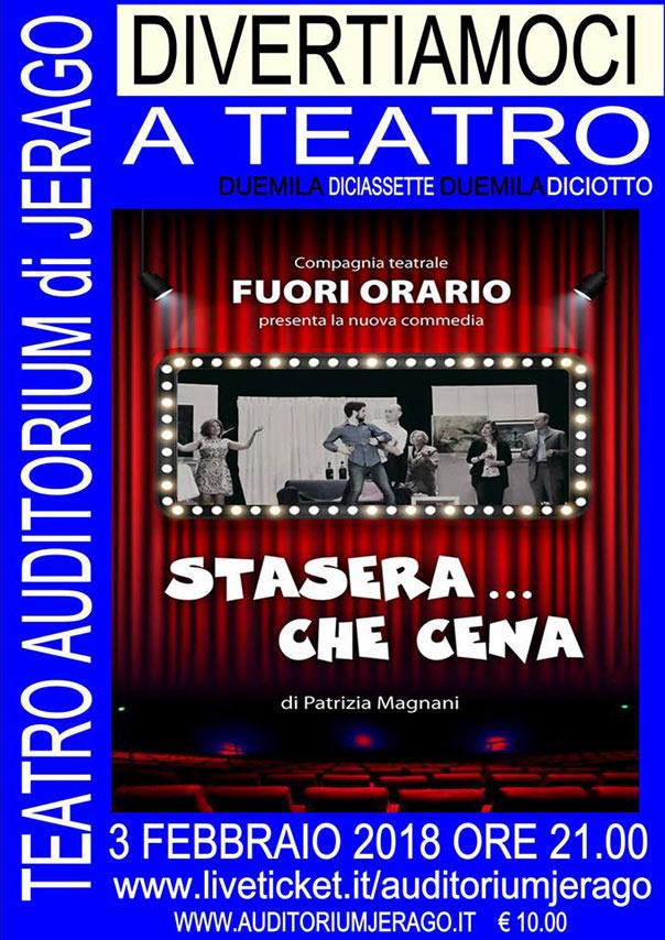 Stasera...che cena all'Auditorium Jerago a Jerago con Orago