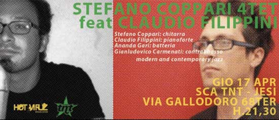 "Stefano Coppari 4tet ""Eureka"" feat Claudio Filippini allo SCA TNT di Jesi"
