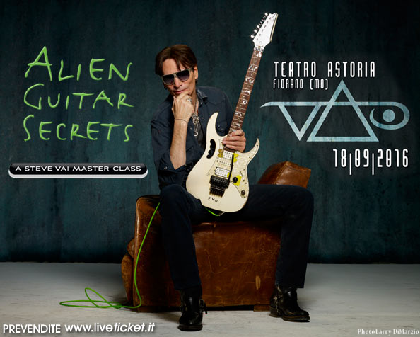 Steve Vai Masterclass al Teatro Astoria di Fiorano Modenese