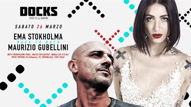 Ema Stokholma back to back Maurizio Gubellini al Docks di Tortona