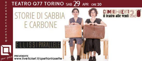 Storie di sabbia e di carbone al Q77 di Torino