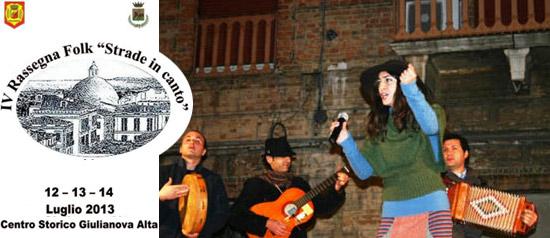 "IV Rassegna Folk ""Strade in canto"" a Giulianova Alta"