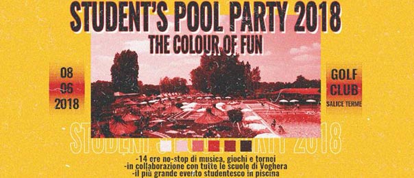 Student's pool party #vol4 al Golf Club di Salice Terme