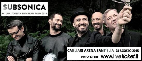 """Subsonica """"In una foresta tour"""" a Cagliari"""