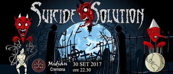 Suicide Solution al Midian Live Pub di Cremona