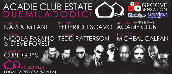 Acadie Club e Groove Sensation Estate 2012
