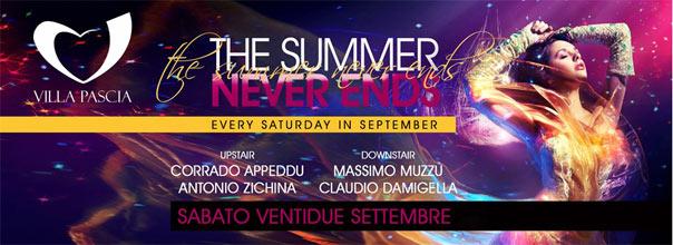 The Summer Never Ends al Villa Pascià