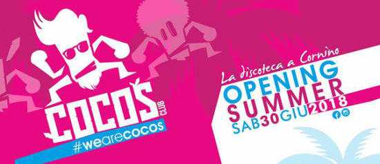 Summer opening 2018 al Cocos Club a Custonaci