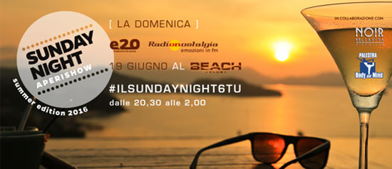 Sunday Night Aperishow al Beach Club Versilia