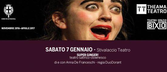 Super Ginger al Teatro Spazio Bixio di Vicenza