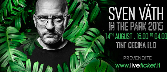 Sven Väth in The Park 2015 al Tini' Soundgarden di Cecina