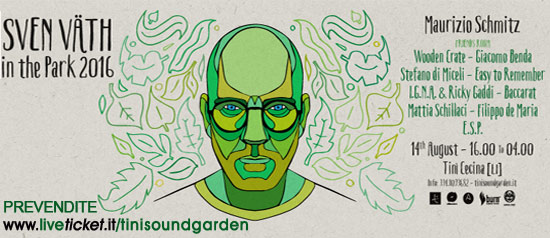 Sven Väth in The Park 2016 al Tini' Soundgarden di Cecina