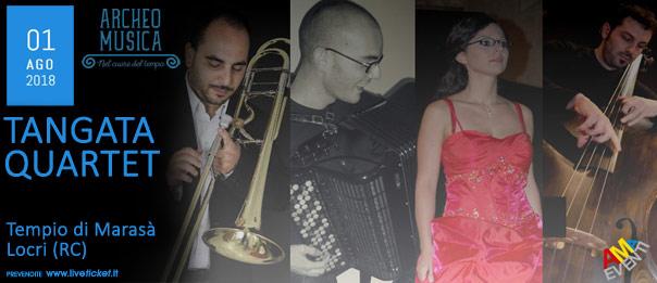 Tangata Quartet al Tempio di Marasà a Locri