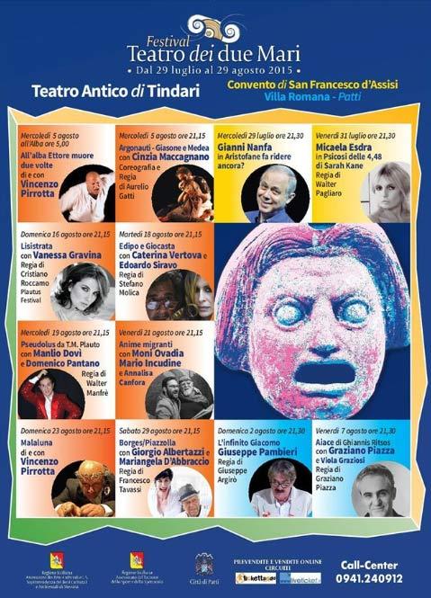 Programma Festival Teatro dei due Mari 2015