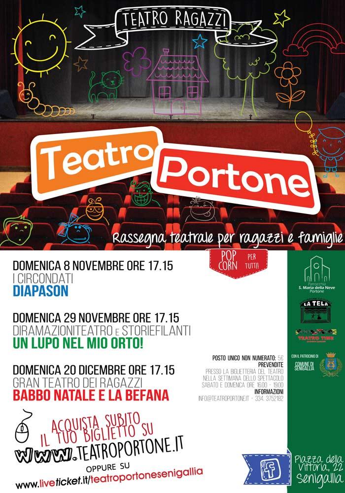 Rassegna teatrale per ragazzi e famiglie al Teatro Portone di Senigallia