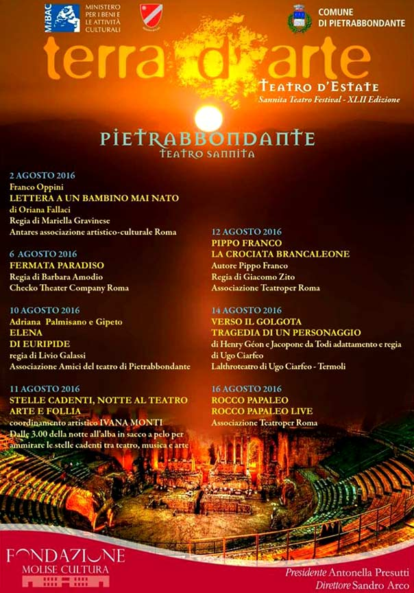 Terra d'Arte estate 2016 Teatro Sannita Pietrabbondante
