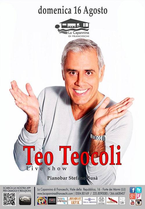 Teo Teocoli Live Show alla Capannina di Forte dei Marmi