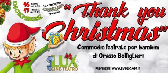 Thank you Christmas al Cineteatro Lux di Palermo