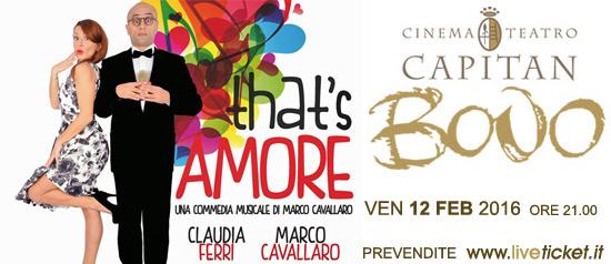 """""""That's amore"""" al Cinema Teatro Capitan Bovo di Isola della Scala"""