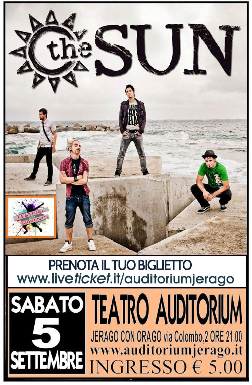 The Sun in concerto all'Auditorium Jerago a Jerago