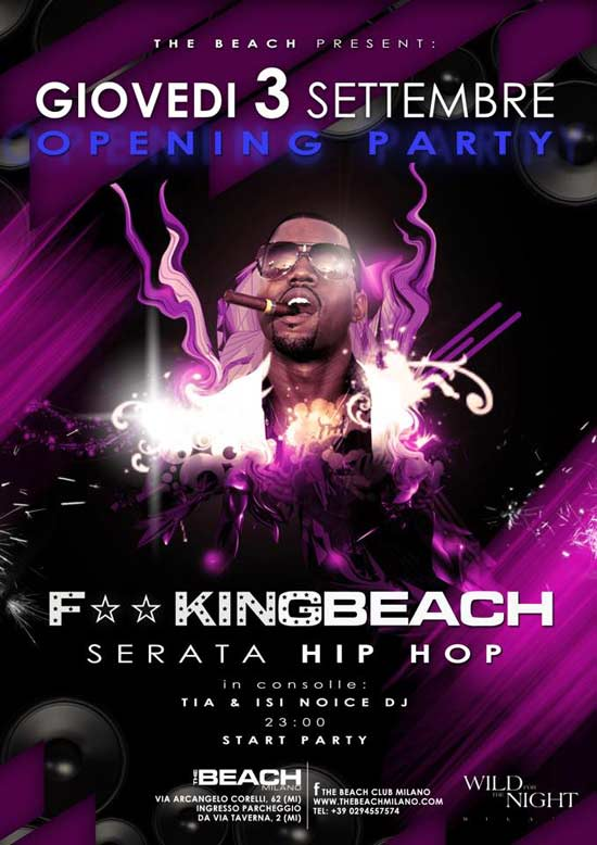 F**kingbeach Opening Party The Beach Milano