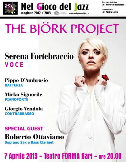 The Björk Project con Serena Fortebraccio al Teatro Forma di Bari