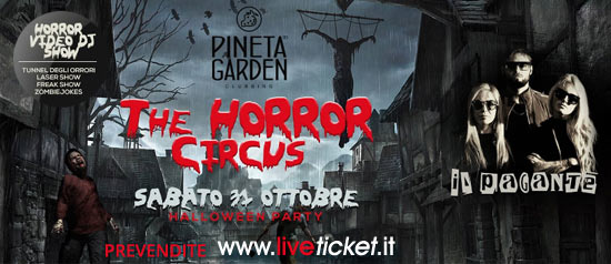 Halloween The Horror Circus Guest Il Pagante al Pineta Garden a Sassocorvaro