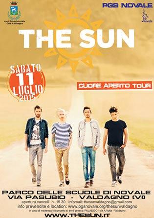 """The Sun """"Cuore Aperto Tour 2015"""" a Valdagno"""
