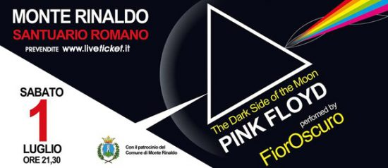 """The Dark Side of the Moon"" Pink Floyd tribute al Santuario Romano di Monte Rinaldo"