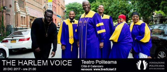 The Harlem Voice al Teatro Politeama di Catanzaro