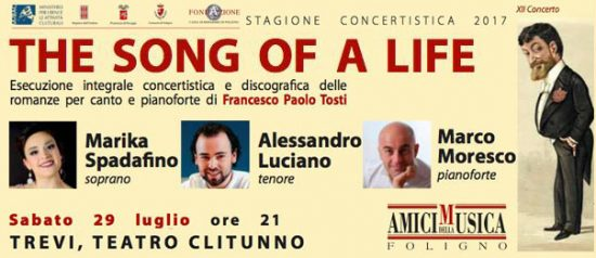 """The song of a life"" XII concerto al Teatro Clitunno di Trevi"